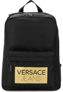 Versace Jeans Mochila Com Logo - Preto