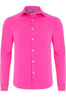 Camisa Masculina Poliamida Stretch - Rosa