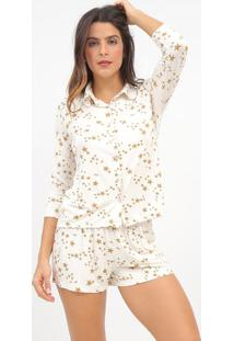 Short Doll Estrelas- Off White & Dourado- Hopehope