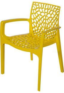 Cadeira Gruver Com Braco Polipropileno Amarelo - 30477 Sun House