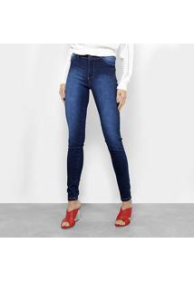 9261f1369d R$ 79,99. Zattini Calça Azul Feminina Jeans Skinny Cintura Media Estonada  ...