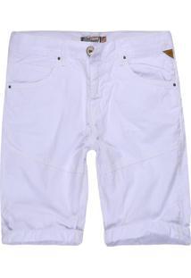 Bermuda Khelf Color Recorte Branco