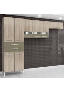 Cozinha Completa Compacta Julia 8 Portas Teka E Brown Aramóveis