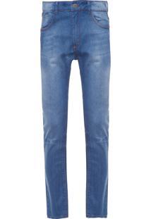 Calça Masculina Slim Alloa - Azul