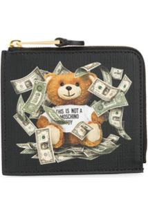 Moschino Carteira Estampada 'Teddy Bear' - Preto