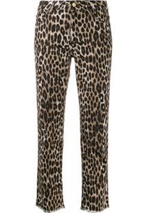 Michael Michael Kors Calça Jeans Cropped Com Estampa De Leopardo - Neutro
