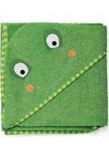 Toalha De Banho Infantil Skip Hop Zoo Sapo Masculina - Masculino-Verde