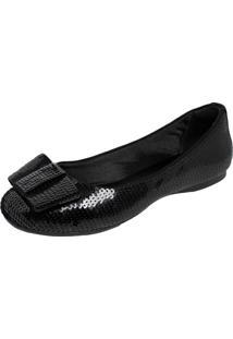 Sapatilha Dafiti Shoes Lantejoula Preta