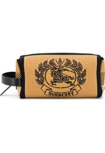 Burberry Necessaire De Tricô Archive Crest - Marrom