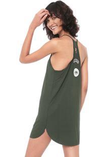 Vestido Roxy Curto Power Time Verde