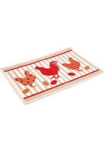 Tapete Para Cozinha Kapazi Kitchen Chicken 40X60Cm Bege