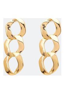 Brinco Médio De Elos Corrente | Accessories | Dourado | U