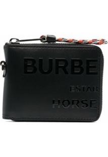 Burberry Carteira Com Estampa Horseferry - Preto