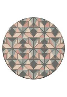Tapete Love Decor Redondo Wevans Abstract Color Multicolorido 94Cm