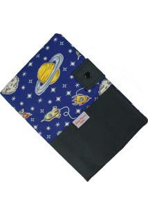 Capa Para Cartão De Vacinação - Alan Pierre Baby - Foguete Azul Marinho