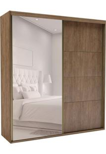 Guarda-Roupa Casal Com Espelho Eleganza Ll 2 Pt 4 Gv Ébano
