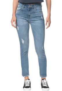 Calça Jeans Five Pockets Ckj 010 High Rise Skinny - Azul Claro - 34