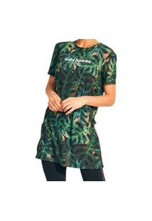 Camiseta Alongada Estampada Colcci 034.57.00243