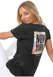 Camiseta Tommy Jeans New York Photo Preta