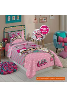 Edredom Infantil Lol (150X200) Algodão Rosa
