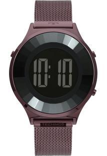 Relógio Technos Crystal Feminino Roxo - Bj3851Ai/4P