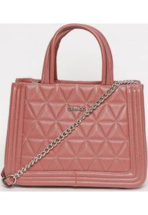 Bolsa Com Pespontos - Rosa - 21X27X12Cmgriffazzi