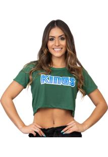 Camiseta Kings Sneakers Cropped Sega Verde - Kanui