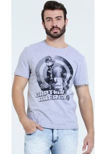 Camiseta Masculina Capitão América Marvel