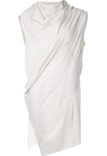 Rick Owens Blusa Com Franjas - Branco