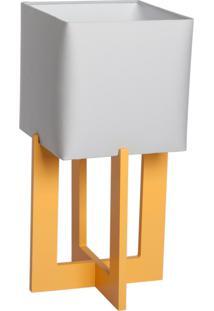 Abajur Square 03 Base Amarela Cúpula Cinza - 44X22Cm Carambola