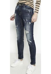 Jeans Marisa 2® Skinny Com Destroyed- Azul- Forumforum