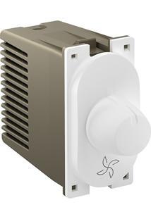 Módulo Dimmer Rotativo Para Ventilador 110V Nereya Branco
