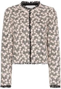 Giambattista Valli Jaqueta Floral De Tweed - Preto