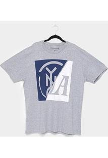 Camiseta Industrie Box Logo Plus Size Masculina - Masculino-Mescla