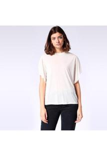 Camiseta Diesel T-Peta-B Feminina - Feminino-Branco