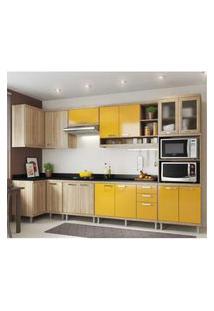 Cozinha Completa Multimóveis Com 8 Peças Sicília 5831 Argila/Amarelo