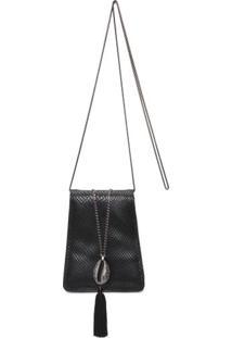 Clutch Leather Búzios Animale - Preto