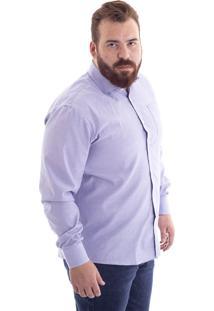 Camisa Confort Pluz Size Xadrez Azul 1485-33 - G2