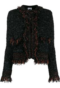 M Missoni Fringed Tweed Jacket - Preto