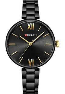 Relógio Curren Analógico C9017L - Feminino-Preto
