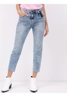 Calca Jeans Reta Com Elastano