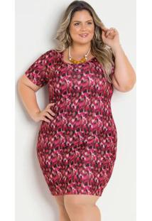 Vestido Onça Pink Plus Size