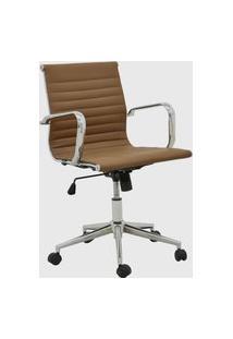 Cadeira Office Sevilha Baixa Marrom Escuro Rivatti