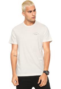 Camiseta Quiksilver Slim Fit Off-White