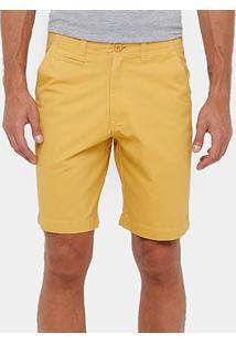 Bermuda Blue Bay Chino Color Bolso Faca Masculina - Masculino