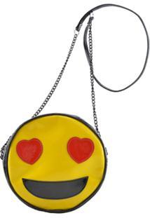 Bolsa Clara Edery Emoji Apaixonado - Feminino-Amarelo