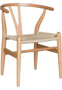 Cadeira Valentina Madeira Clara Assento De Palha