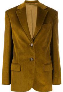 Acne Studios Blazer Canelado - Amarelo