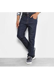 Calça Jeans Slim Foxton Fit Lavagem Escura Masculina - Masculino-Jeans