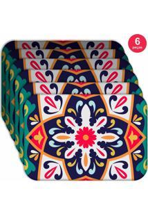 Jogo Americano Love Decor Wevans Mandala Green Kit Com 6 Pçs